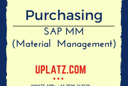 SAP MM Purchasing module training by Uplatz