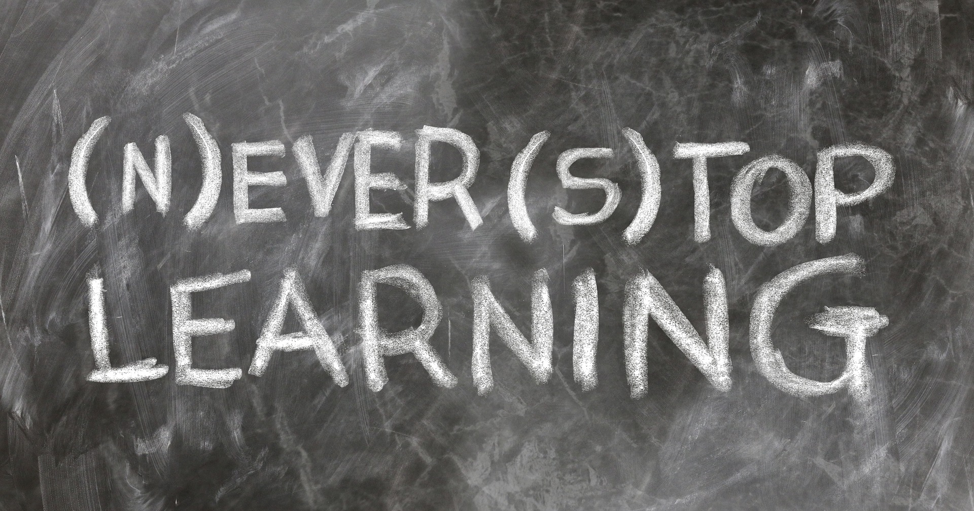 "a blackboard showing the text - ""never stop learning"", Online teaching, Online Tutor, Online trainer, best practices for online teaching"