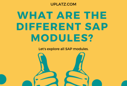 different SAP modules