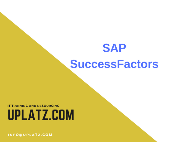 Promotional image illustrating SAP SuccessFactors training by Uplatz.com