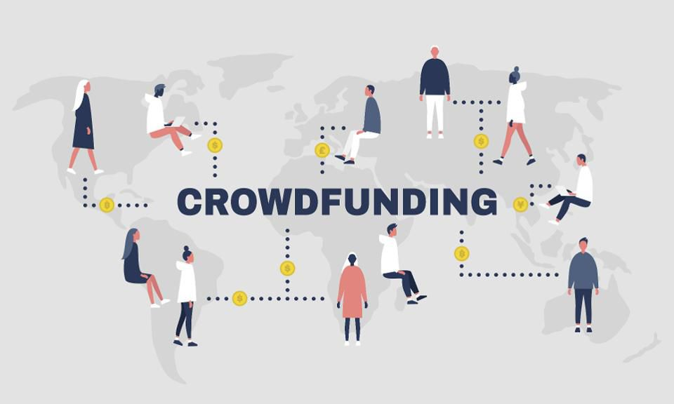 Crowndfunding, collection of money for business, Joined money investor